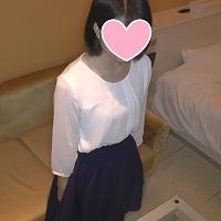 【個人撮影】顔出し 黒髪で素朴な女子大…